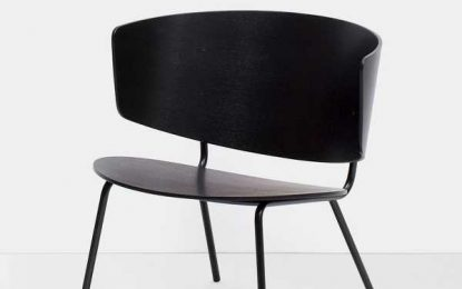 Herman Lounge Chair – Schwarz